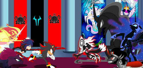 Sonic Forces and MLP Movie : Good Edge vs Bad Edge by trungtranhaitrung