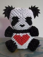 3D Origami Panda again by OneLoneTree