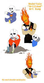 Dadby - Grilldad - Undertale Art Dump #2 by MismatchedGreenSocks
