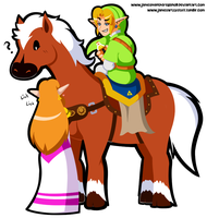 Commission - Simply Link 'n his Horse by JamesmanTheRegenold