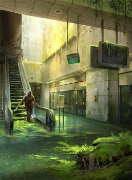Abandoned Station - Photobash by sandara