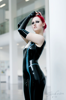 Tron-inspired latex catsuit by VerderbenDesHimmels