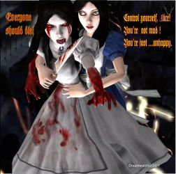 Alice Madness- Internal battle by Dreamwatcher2011