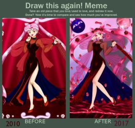 Meme Before And After: Blacklady by OginZ