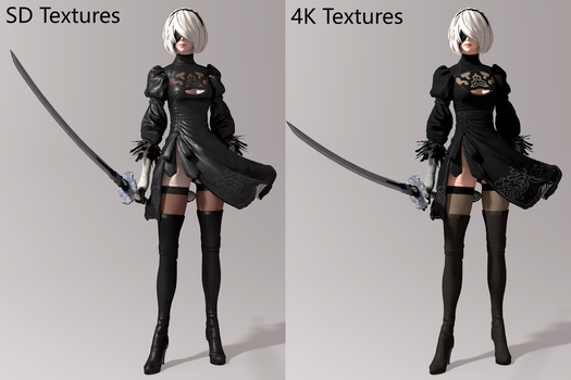 NieR: Automata - 2B [DL-CLOSED] by Shuubaru