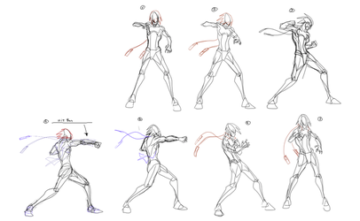 Medium Punch - Animation frames. by supermariotto