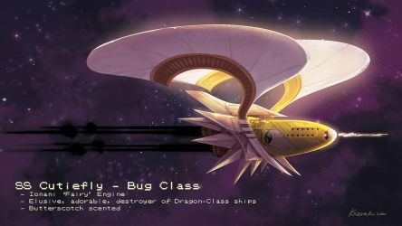 Pokemon Starships - Cutiefly by Kezrek