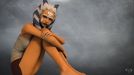 Unreadable Ahsoka by Crimsonight