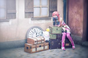 Serah cosplay waiting for Lightning from FFXIII LR by mayuyu0405