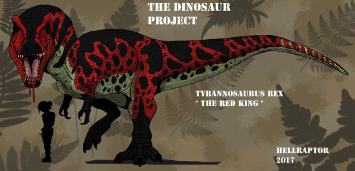 Tyrannosaurus Rex-The Red King by Hellraptor