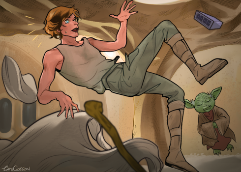 Floating on Dagobah by Larscatson