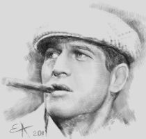 Paul Newman_2 by MrLizaveta