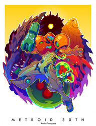 Metroid 30th by Tomycase