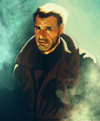 Blade Runner | Deckard by 2DSpaceMan