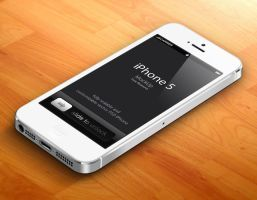 Free White 3D iPhone 5 Psd Vector Mockup by Pixeden