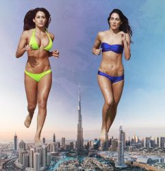 More double giantess in Dubai by eheh78