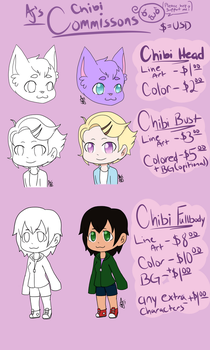 [OPEN] Chibi Commissions by PsychoMortician