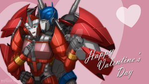 Optimus Prime and Causeway V-day By Shartii by Elita-One-Arts