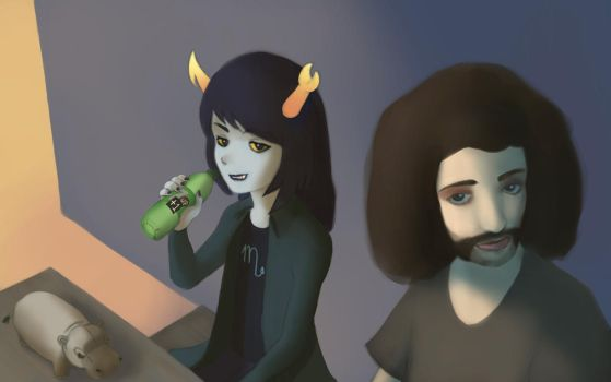 Hip and Vriska and Gib by Miskeey