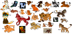 Unused and Unsold Adoptables! (5/27 OPEN) by TrueLightPortal
