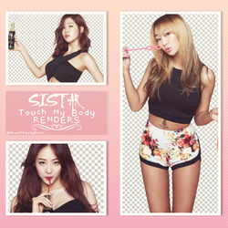 Pack Sistar Touch My Body Renders by AbouthRandyOrton