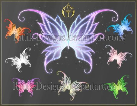 Wings 3 (downloadable stock) by Rittik-Designs