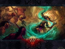 Diablo 3 - Witch Doctor Wall by Lythus