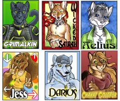 Badges done in October by lady-cybercat