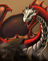 Bone Face Dragon by MillyD13