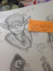 Sketch #1 From Twitter(Elf OC) by shatters-scribbles