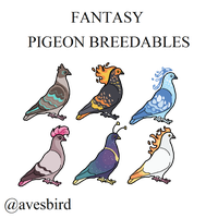5 Point Fantasy Pigeon Breedables by avesbird