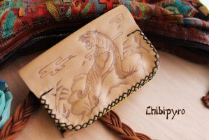 Leather Wallet Tiger by ChibiPyro