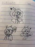 This is a random doodles that contain fanarts. Ye. by CherryMarrie2005
