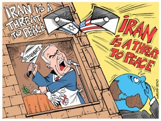 Iran is a THREAT to peace by Latuff2