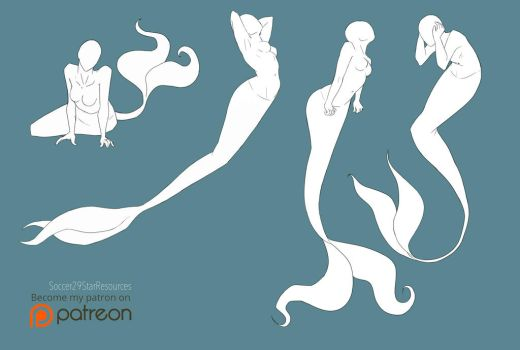 Mer-May Pose Set 2 by CourtneysConcepts