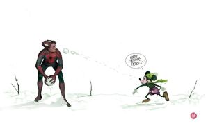SNOW BALL FIGHT by deadlymike
