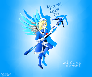 overwatch Mercy (ou ange en francais lol) by hichigot