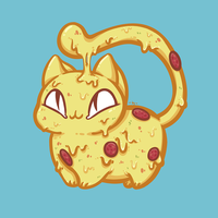 Pizza Cat by blueToaster