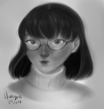 Glasses girl by narcyzus