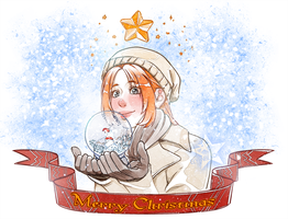 Orihime and the snowball by ElyonBlackStar