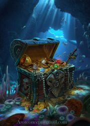 Pirate`s Chest with Treasure by Azot2018