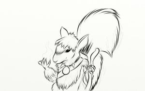 Pathfinder Character - Squirrel Druid by mistformsquirrel