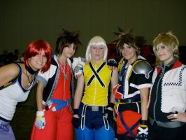 Kingdom Hearts Cast by katriona-katarina