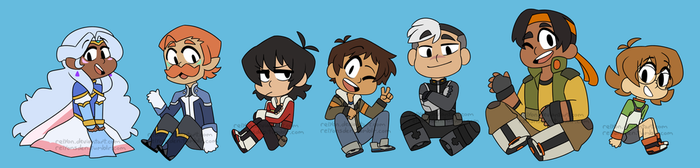 Voltron Stickers! by relyon
