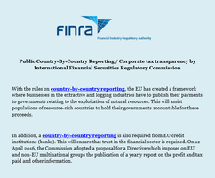 Public Country By Country Reporting Corporate tax  by levicrisp05