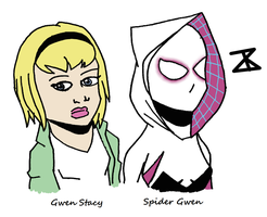 Gwen Stacy is Spider Gwen by FreakyComics
