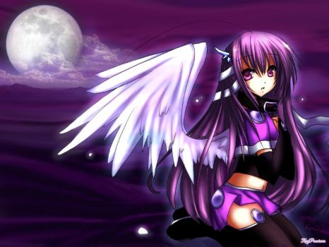 Wallpaper Contest -Night Angel by KeyPassions