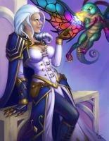 Jaina vs Faerie Dragon by teriopi