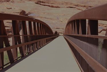 Footbridge in the Desert by darksister8