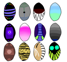 Egg Adopts :OPEN: by Ink--Beast